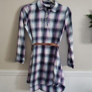 Children's place flannel dress size xl 14